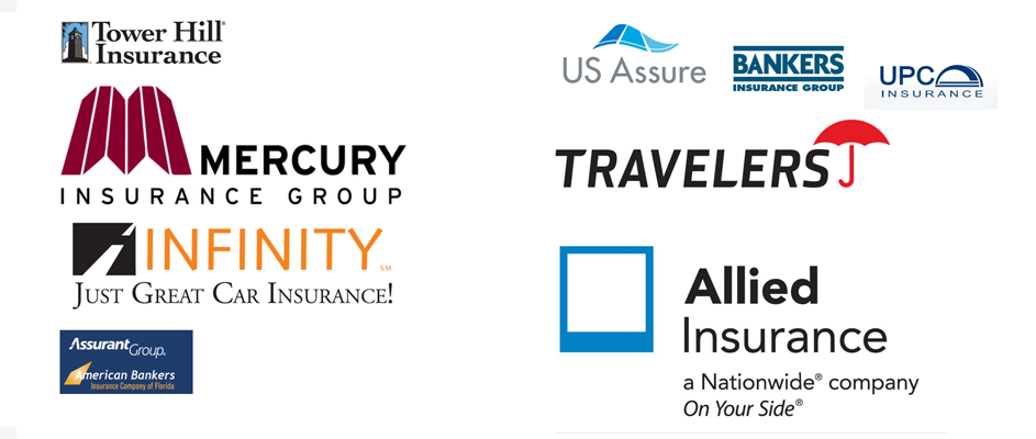 auto, life, home and business insurance company logos